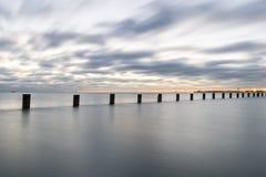 Marzycielski wschód słońca na jeziorze Zdjęcie Royalty Free