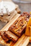 Masło bezpłatny i cukrowy bezpłatny bananowego chleba bochenek z owies mąką Weganinu tort dla zdrowej diety zdjęcia stock