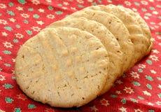 masła ciastek arachidowy rząd obraz stock