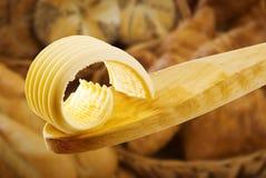 masła kędzioru łyżka drewniana Zdjęcie Royalty Free