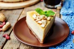 Masła orzechowego cheesecake obrazy stock