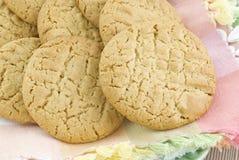 masła zbliżenia ciastka arachidowi Obrazy Stock