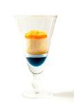 Masło babeczki i słodki dring w jasnym szkle Obraz Royalty Free