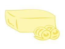 masło blokowi kędziory ilustracja wektor
