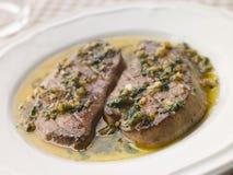 masło foie gras zwęglone czosnku Zdjęcia Stock