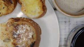 Masło i chleb dla śniadania zbiory