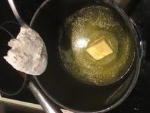 Masło i mąka zdjęcie stock