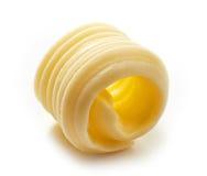 Masło kędzior na białym tle zdjęcia stock