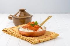 masło kurczaka ryżu Obraz Stock