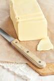 Masło na papierze Zdjęcia Stock