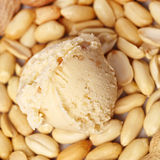 Masło orzechowe lody Fotografia Stock