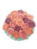 Masło róż tort Zdjęcia Stock
