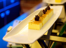 Masło tort na talerzu Zdjęcia Stock