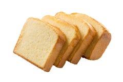 Masło torta plasterki odizolowywający na bielu Zdjęcia Royalty Free
