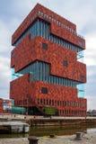 MAS博物馆在安特卫普 免版税库存图片