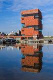 MAS博物馆的大厦在安特卫普比利时 免版税图库摄影