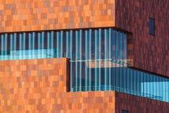 MAS博物馆的大厦在安特卫普比利时 库存图片