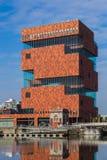 MAS博物馆的大厦在安特卫普比利时 图库摄影