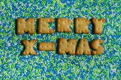 mas快活的x 从说谎给上釉的可食的信件的词在 免版税库存图片