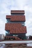 MAS. Antwerp, Belgium - October 16, 2014: Museum aan de Stroom (MAS). Open in 2011, is the largest museum in Antwerp. Was designed by Neutelings Riedijk Royalty Free Stock Image