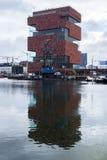 MAS. Antwerp, Belgium - October 16, 2014: Museum aan de Stroom (MAS). Open in 2011, is the largest museum in Antwerp. Was designed by Neutelings Riedijk Royalty Free Stock Photography