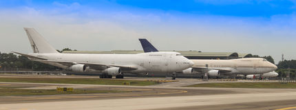 MAS Cargos Boeing 747-2F6B à KLIA Photos stock