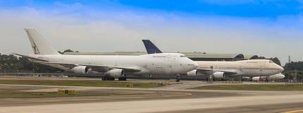 MAS Cargos Boeing 747-2F6B bij KLIA Stock Foto's