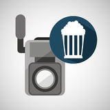 Maïs de bruit de caméra vidéo de film Image stock