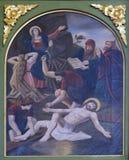 11mas estaciones de la cruz, crucifixión Fotos de archivo libres de regalías