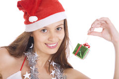 х-mas girl Royalty Free Stock Photos