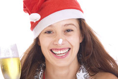 х-mas girl Royalty Free Stock Photo