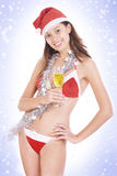 х-mas girl Royalty Free Stock Images