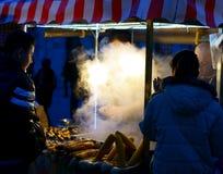 Maïs grillé dans la vieille ville Istanbul Images libres de droits