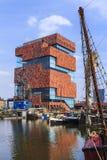 Mas Museum Antwerp, België Stock Foto's