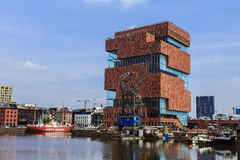 Mas Museum Antwerp Belgien Royaltyfri Fotografi