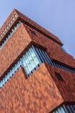 Mas Museum Antwerp, Belgien Stockfotografie