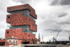 The MAS museum in Antwerp, Belgium Stock Images