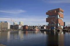 MAS museum, Antwerpen stock foto