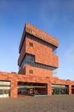 Mas Museum, iconische architectuur in het stadscentrum van Antwerpen, België Stock Fotografie