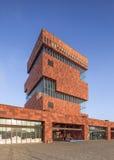 Mas Museum, iconische architectuur in het stadscentrum van Antwerpen, België Royalty-vrije Stock Foto's