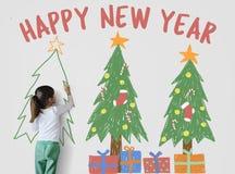 Mas Newyear van Merryx ` van de Kerstmisviering Royalty-vrije Stock Foto's
