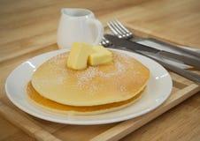 Masło i blin fotografia stock