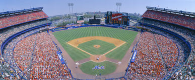 Masłosza Stadium, NY Giganty Mets v SF giganty, Nowy Jork Zdjęcie Royalty Free