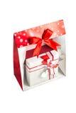 Mas van Christus doos in een Kerstmiszak Stock Afbeelding