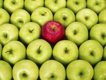 Maçãs vermelhas e verdes Foto de Stock