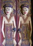 Mas wioska Drewniany Rzeźbi Bali 01 Fotografia Stock