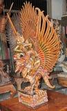 Mas wioska Drewniany Rzeźbi Bali 02 Zdjęcie Royalty Free