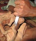 Mas wioska Drewniany Rzeźbi Bali 03 Obraz Stock