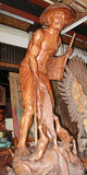 Mas wioska Drewniany Rzeźbi Bali 04 Fotografia Stock