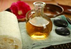 masaż ciepła oleju Fotografia Stock